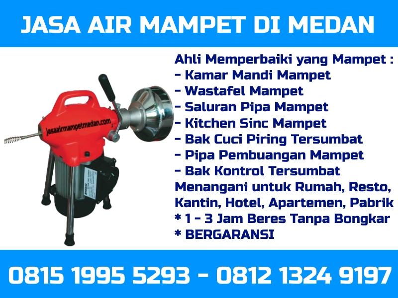 Jasa air mampet Medan Kota kota medan telp 081213249197